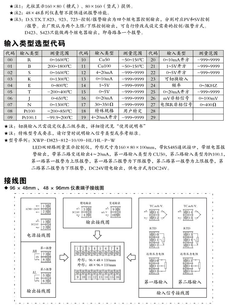 XWP-D723 数显控制仪