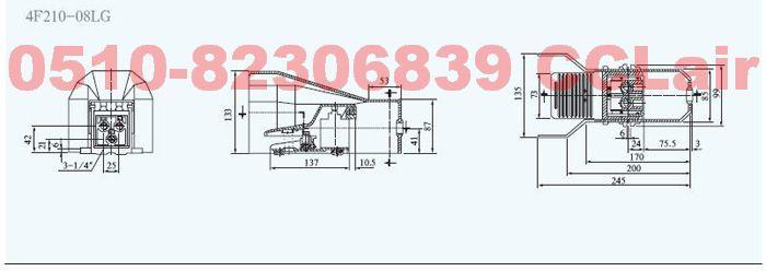 4F210-08  4F210-08L   4F210-08G   4F210-08LG     脚踏阀