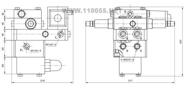 回转阀组 QY12A-1245