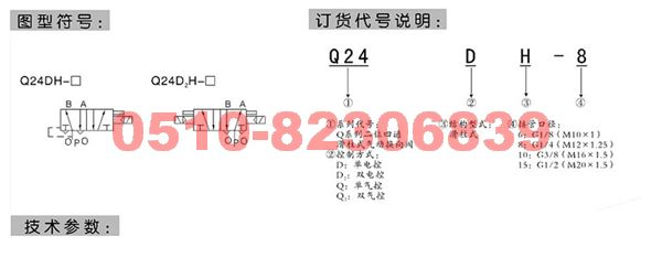 Q24DH-10     Q24DH-15    Q24DH-20    Q24DH-25      二位四通换向阀