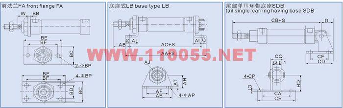 MAU-32 MA-32 MA-40 MAU-40 不锈钢迷你型气缸