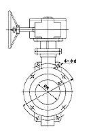 蜗轮传动对夹式硬密封蝶阀D373H