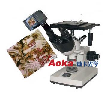 视频倒置金相显微镜