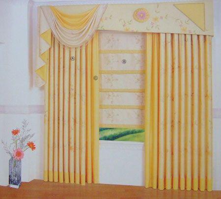 十大不同颜色风格的窗帘布艺图图片