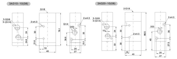 控阀工作原理动画_三通气控阀   型号 3a310-08 3a320-08 3a310-10 3a320-10  工作介质