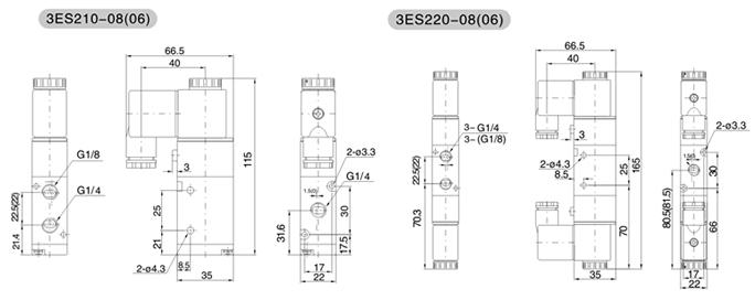 3es2系列二位三通电磁阀】价格图片