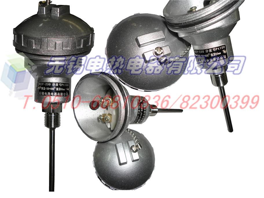 铂电阻,pt100温度传感器 黄插头式191系列; 防水式接线盒