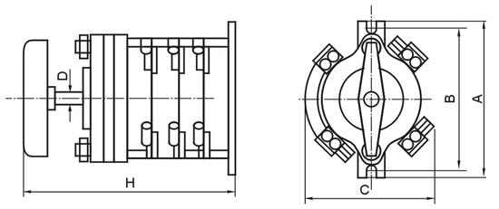 电焊机手动开关接线图图片