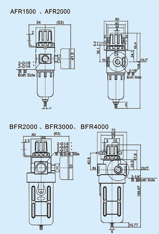 过滤调压阀bfr-3000图片