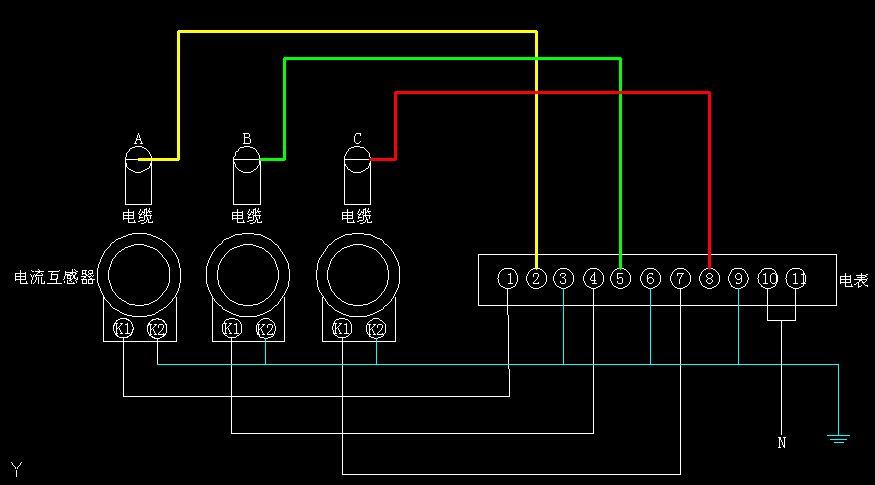 三相互感器电表接线图图片