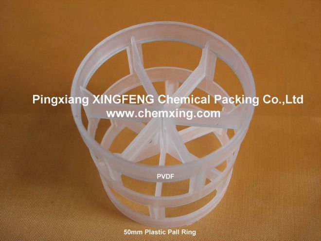 PVDF 50mm Pall Ring
