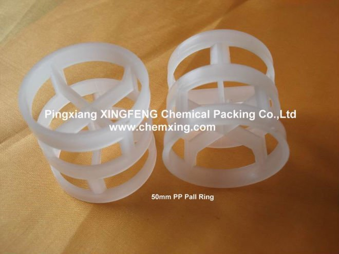 50mm Plastic Pall Ring Packing