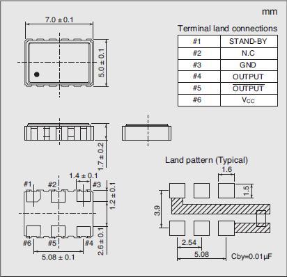 7311S-DF-505P Dimensions
