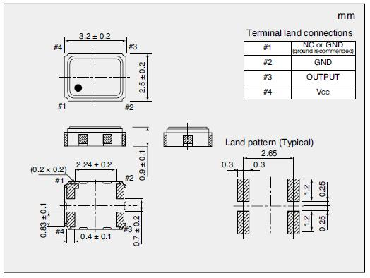 NT3225SA Dimensions