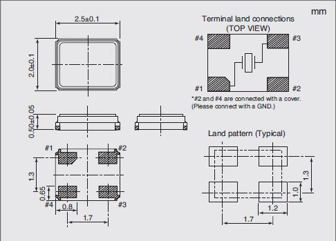 NX2520SA Dimensions