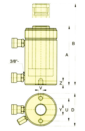RRH双作用空心柱塞千斤顶 中空式液压缸 RRH