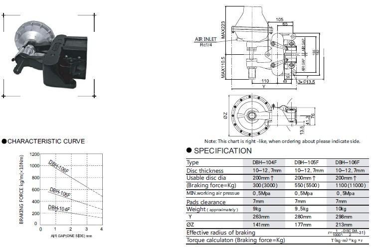 空压碟式制动器