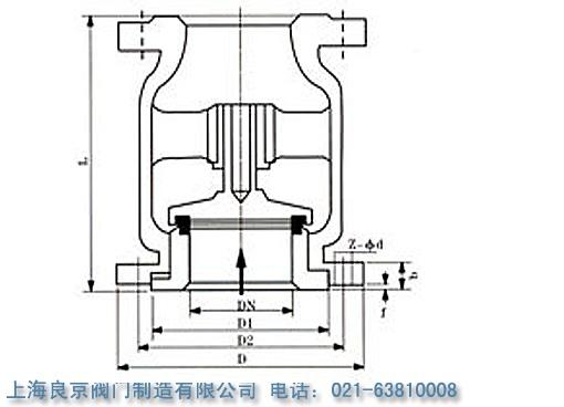 h42n煤气止回阀利用流体压差和自身重力实现升降,适用燃气管道控制图片