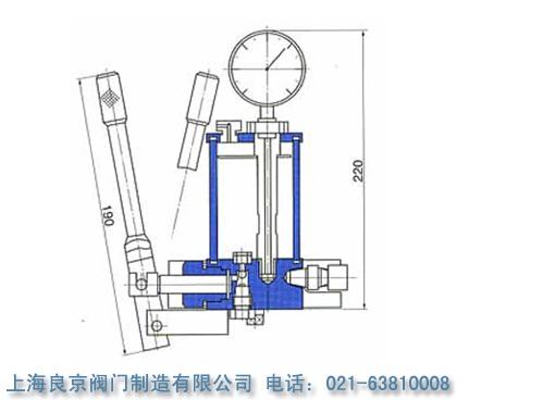 sb02-60手摇油泵 的结构原理图