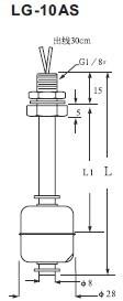 連桿浮球液位開關