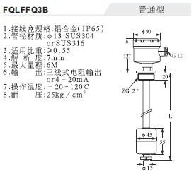 浮球連續式液位計