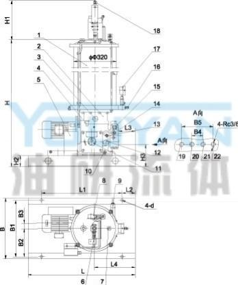 终端式结构电动润滑泵配用电磁换向阀,有二个接口,外接图片
