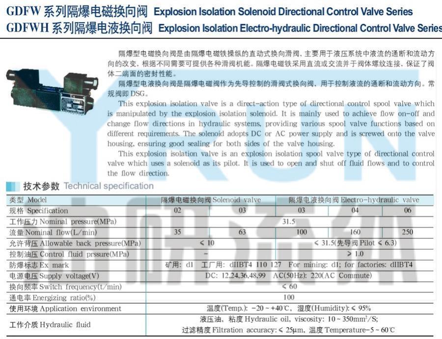 GDFW-02-3C12 GDFW-02-3C4 GDFW-02-3C3 GDFW-02-3C2 隔爆电磁换向阀