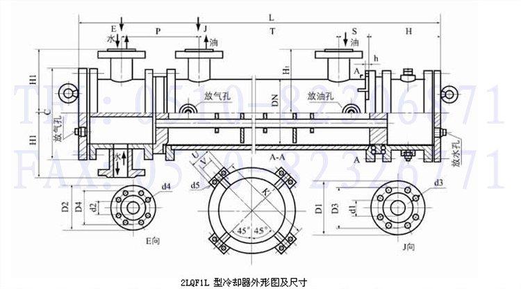 2lqf1l-10/25f,2lqf1l-10/29f,2lqf1l-10/36f,列管式冷却器 2lqf1l-10