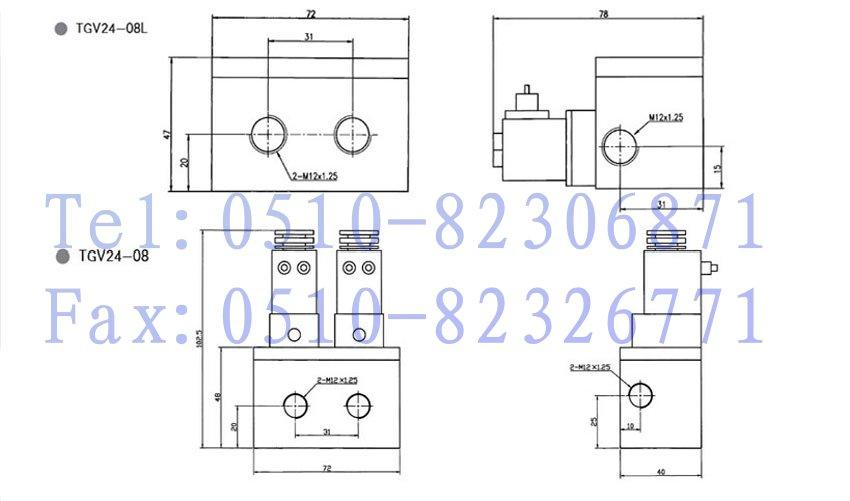 tgv24-m12,tgv24-08,tgv24-m12l,tgv24-08l,stnc膜片式电磁阀图片
