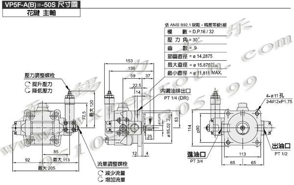 变量叶片泵 vp5f定量叶片泵,柱塞泵,齿轮泵