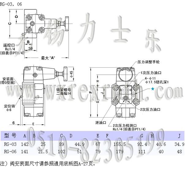 榆次油研减压阀 rcg-06图片