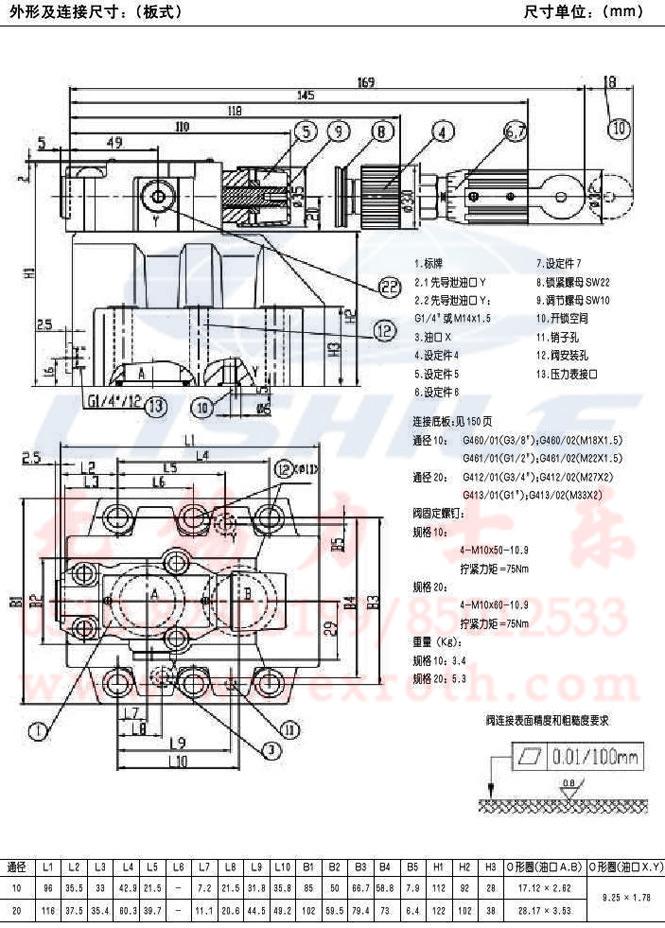 供应【溢流阀 dr10-4-50b/315y 】图片