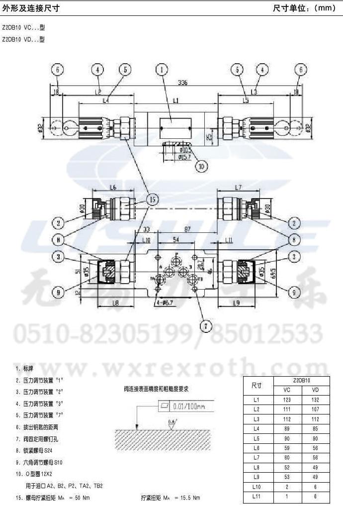 叠加式溢流阀 【zdb10vb2-30/31.5 】
