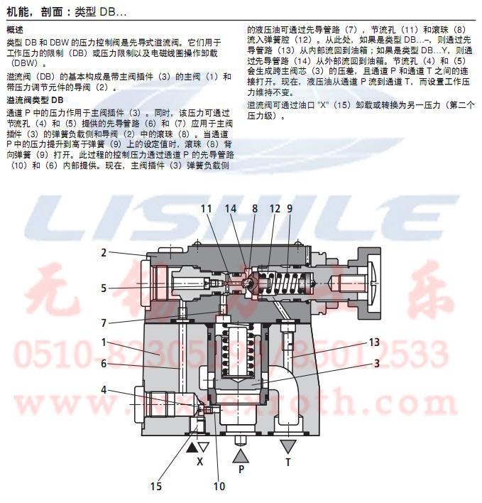 先导式溢流阀 dbw10b1-52/315-6ew230n9k4图片