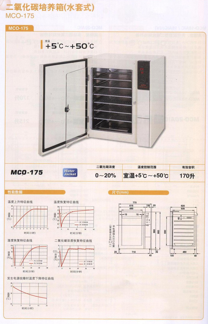 MCO-175日本三洋二氧化碳培養箱