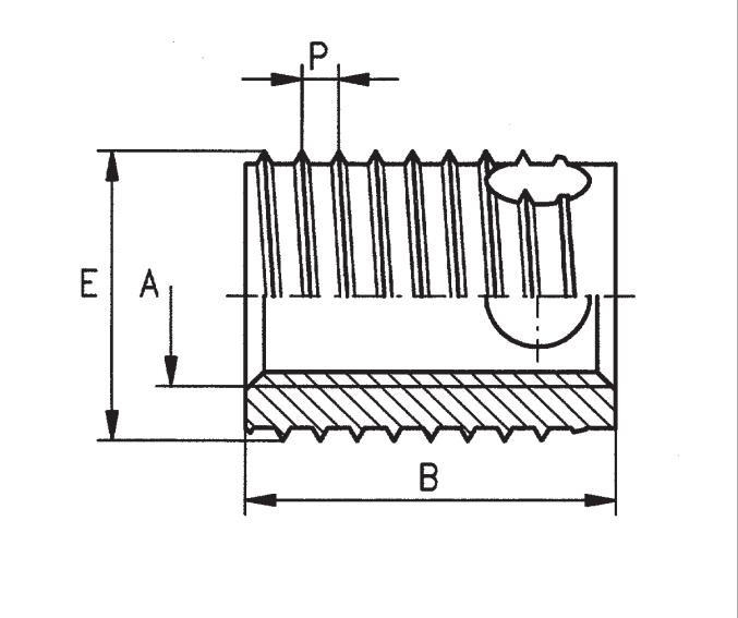 307/308自攻嵌件产品结构图