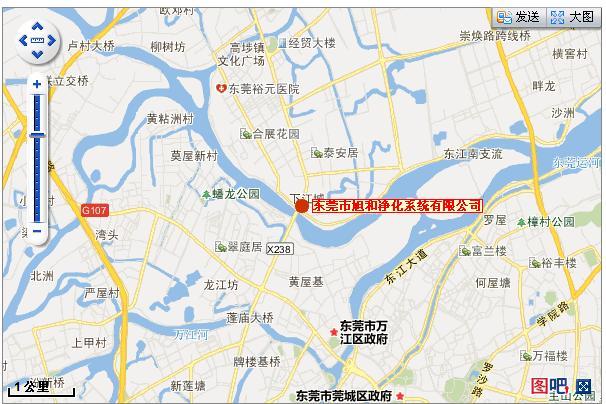 【公司地图】旭和净化科技位于广东省东莞市高埗镇(附