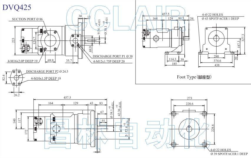 dvq425-189-52-f-raaa,dvq425-200-43-f-raaa双联叶片泵