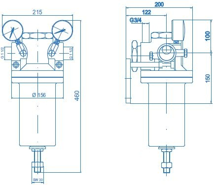 u47ac采用单级大膜片式减压,出口压力稳定,恒压精确.图片