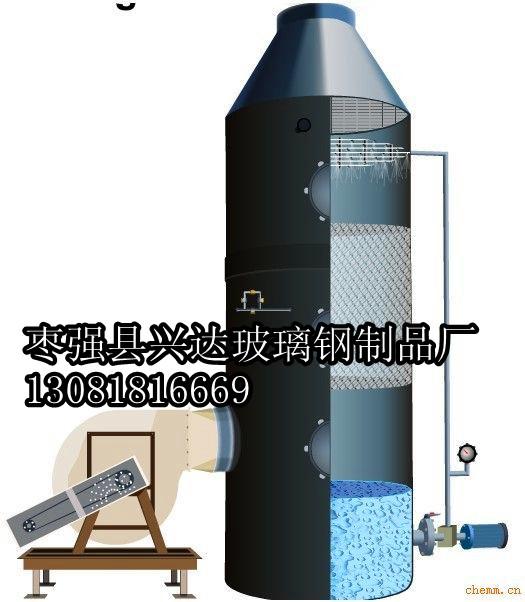 bjs型酸雾净化塔碱洗塔,喷淋塔,洗涤塔采用玻璃钢和聚氯乙烯材料