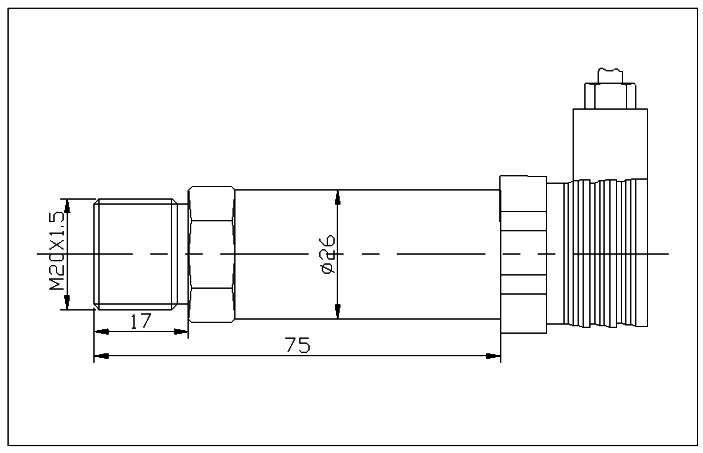 液压pt老虎机传感器尺寸图