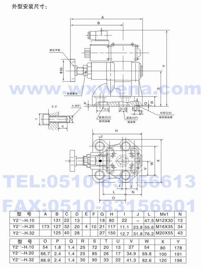 y2eh-hc32,y2eh-hd10,y2eh-hd20,y2eh-hd32,电磁溢流阀图片