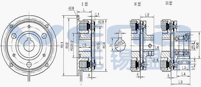 滑环干式,通电型工作的单片电磁离合器,线圈不旋转,一对摩擦付,结构