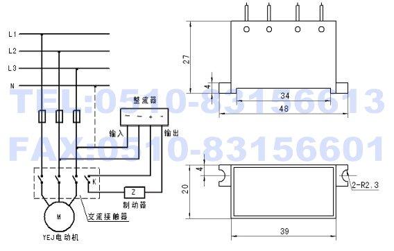 制动器快速制动接线方式,当制动器允许以较慢的速度制动时,可图片