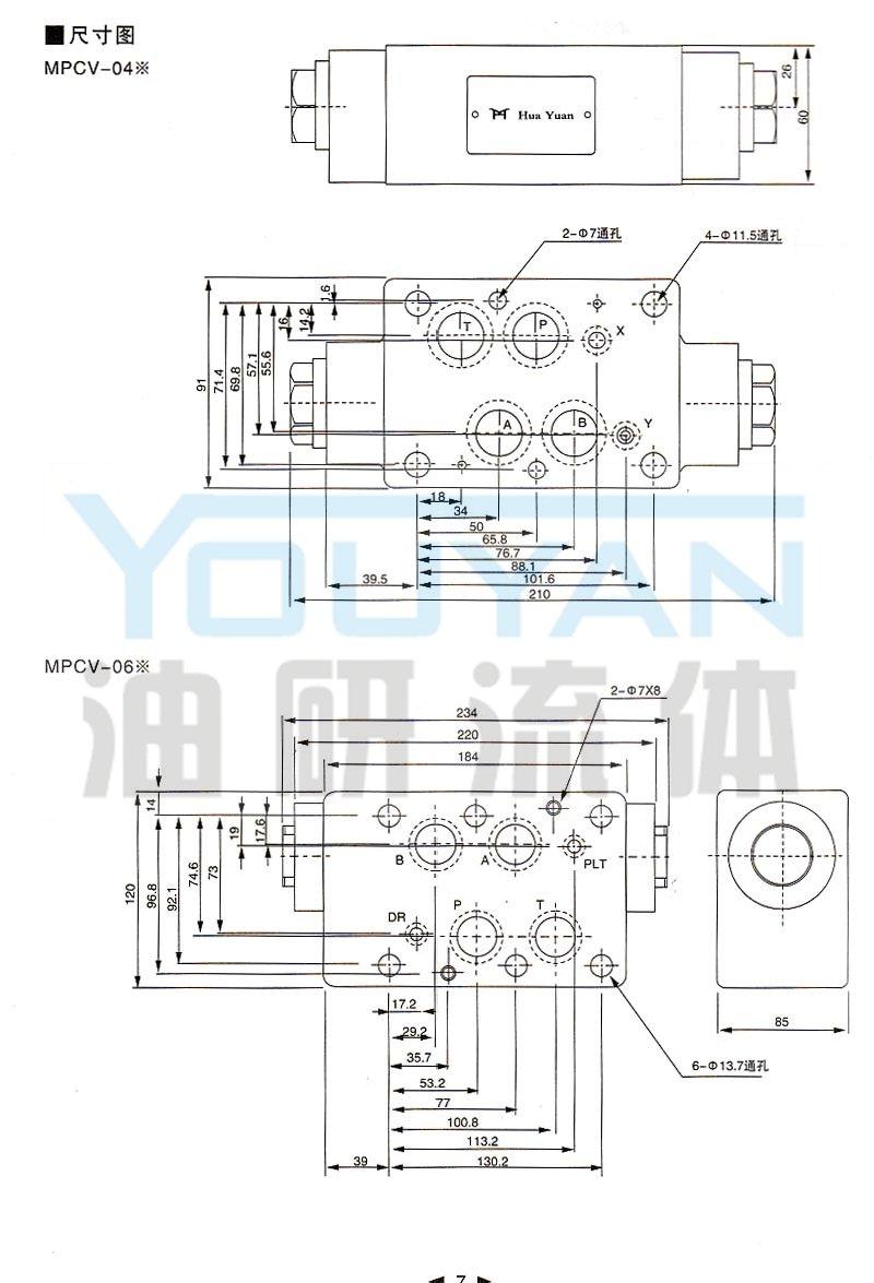 mpcv-04w,mpcv-06w,叠加式液控单向阀图片