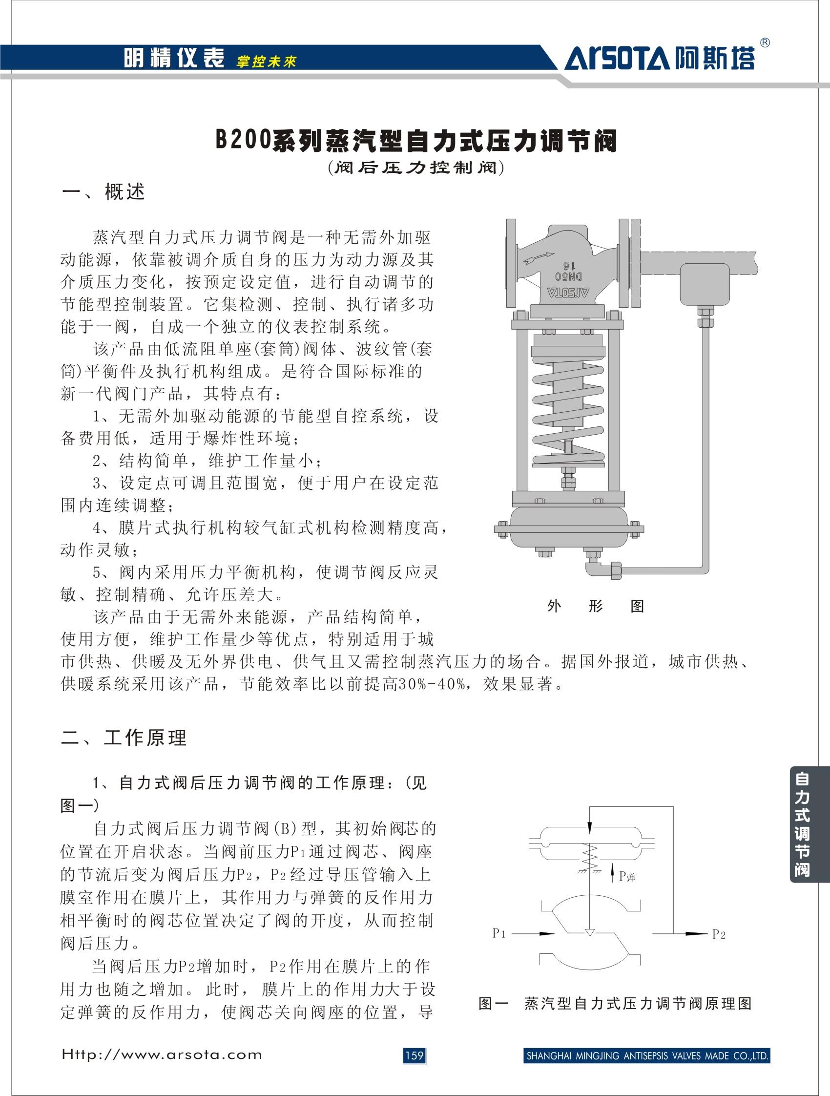 蒸汽型自力式压力调节阀图片