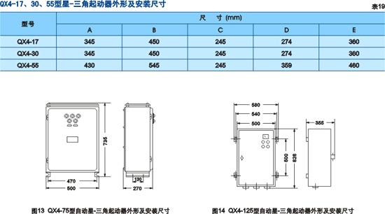 自动星-三角起动器  QX4-17  QX4-30