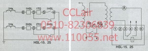 静态定时过流继电器   HSL-11      HSL-12        HSL-21