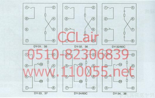电压继电器    DY-32/60C       DY-31       DY-32