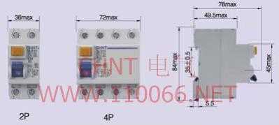 电子式剩余电流动作断路  NL1E-63/4P 63A
